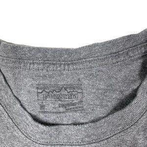 Patagonia Shirts - Patagonia Gray Long Sleeve Graphic Tee Shirt S